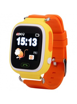 Cмарт часы для детей smart baby watch Q80 c GPS трекером для Android и IOS оранжевые